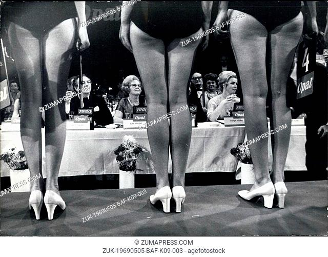 May 05, 1969 - Who is the most beautiful of all?: When the 19th 'Miss Germany' was elected in Munich on 3rd May, the answer to that important question has been...