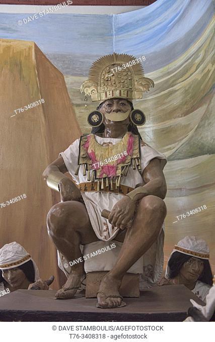 Chimor warrior at the Chan Chan Museum, Trujillo, Peru