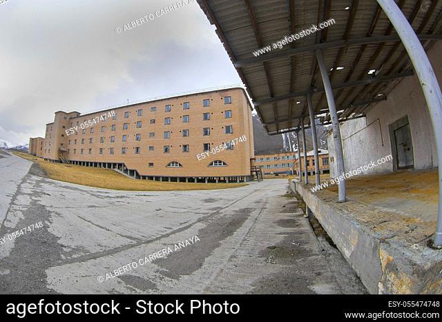 Ancient Remains, Pyramiden, Soviet Ghost Town, Arctic Russian Old Settlement, Billefjord, Arctic, Spitsbergen, Svalbard, Norway, Europe