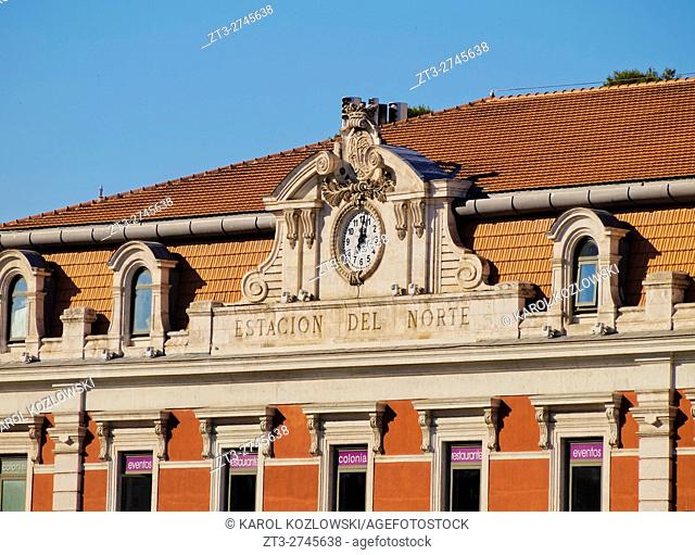 Spain, Madrid, View of the Estacion del Norte, now Principe Pio train Station and Shopping Center