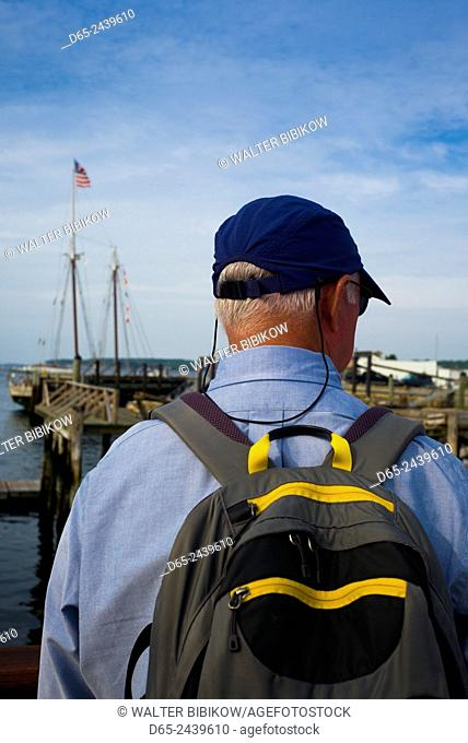 USA, Massachusetts, Cape Ann, Gloucester, America's Oldest Seaport, Annual Schooner Festival, visitor