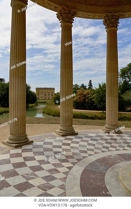 Gardens of Marie Antoinette's estate, gardens ofFrance, Yvelines, Versailles, palace of Versailles listed as World Heritage Sight - shot August 2015