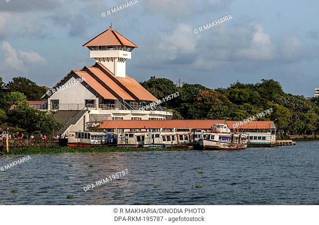 Boat jetty, Ernakulum, kerala, india, asia