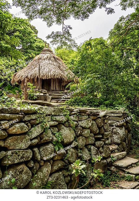 Kogi Hut, Pueblito Chairama, Tayrona National Natural Park, Magdalena Department, Caribbean, Colombia