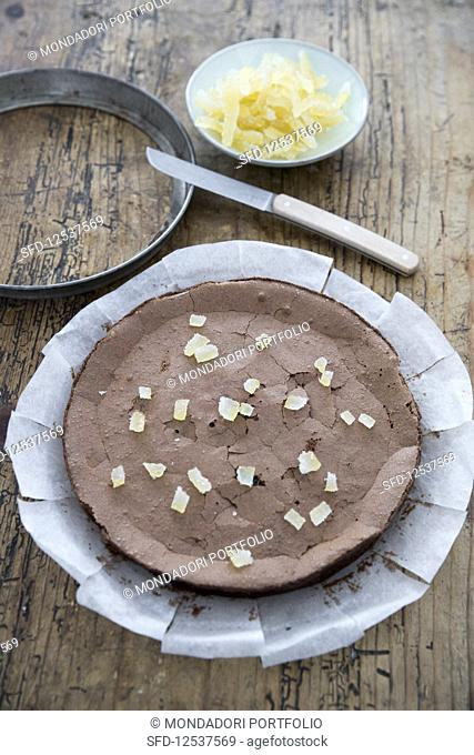 Chocolate and lemon cake