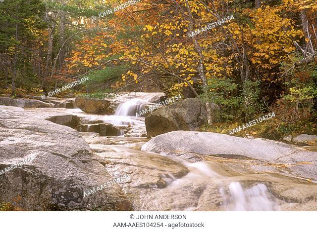 Scenic of Swift River in Fall, White Mountrains, NH