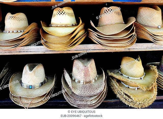 Mexican hats for sale, Olvera Street market