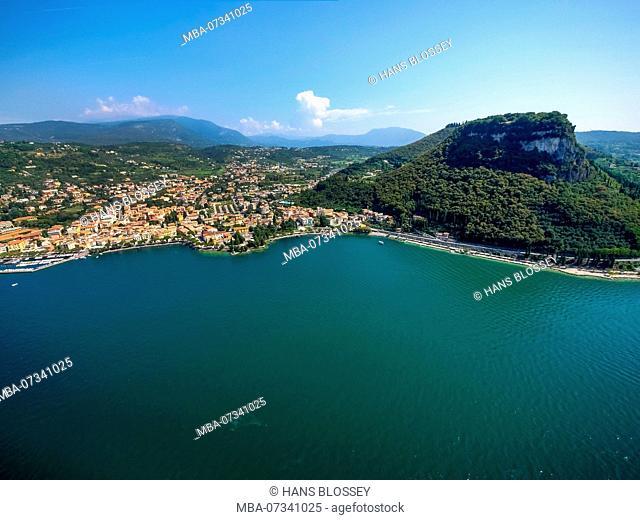 Aerial view, Rocca di Garda, Lago di Garda, Lake Garda, Garda, Northern Italy, Veneto, Italy