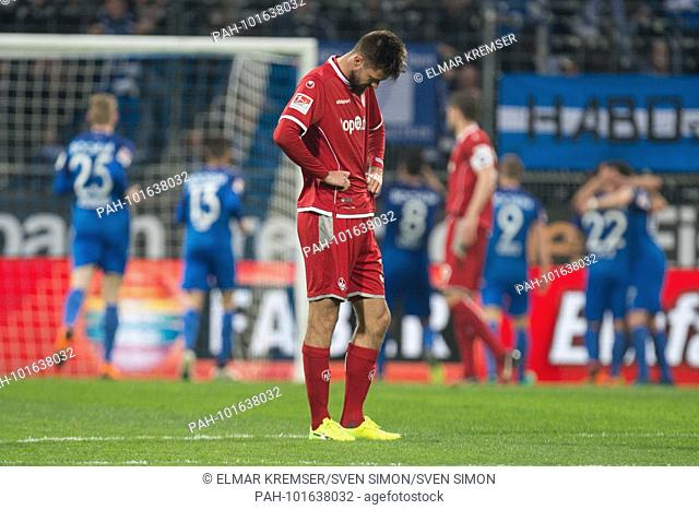 Lukas SPALVIS (KL) is disappointed, showered, disappointed, disappointed, sad, frustrated, frustrated, late, whole figure, looks to ground, looks to the bottom