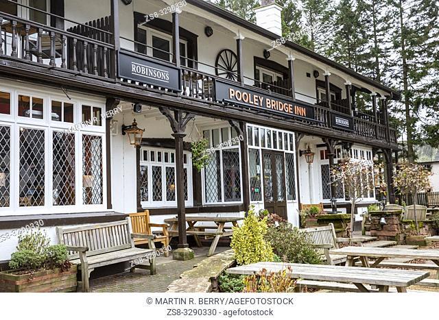 Pooley Bridge Inn at Pooley bridge in the Lake District, Cumbria, England