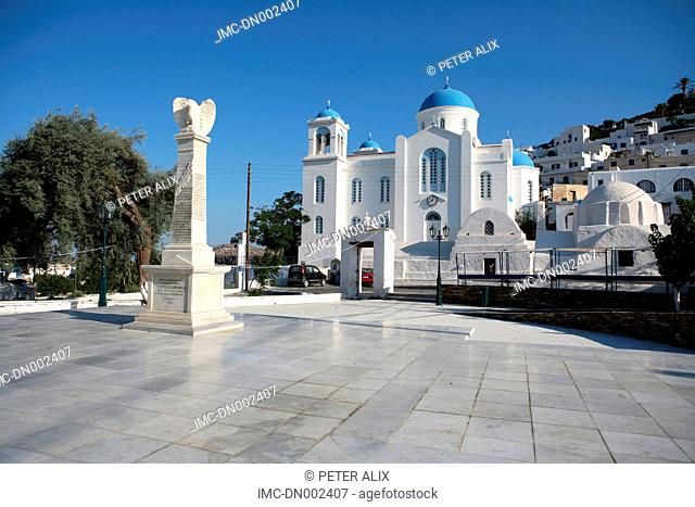 Greece, Cyclades, Ios, church