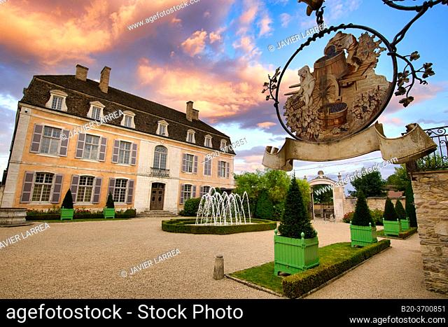 Château de Pommard, Wine route of the Grands Crus, Pommard, Côte de Beaune, Côte d'Or, Burgundy Region, Bourgogne, France, Europe