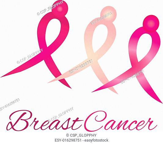 Breast cancer logo awareness ribbon