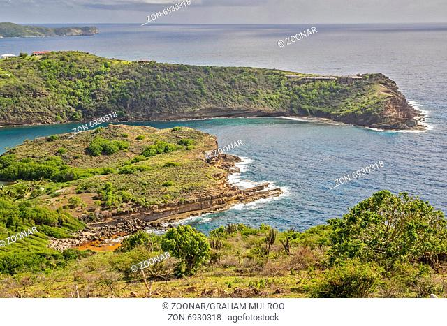 Indian Creek From Shirley heights Antigua West In