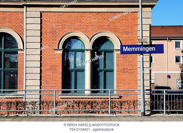 Platform at the train station in Memmingen