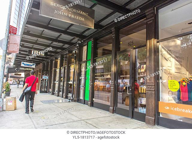 New York City, NY, USA, People Walking, Clothing Stores, Street Scenes, in the Meatpacking District, in Manhattan, transformed from gritty to fabulous  In an...