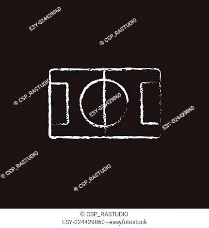 Stadium layout icon drawn in chalk