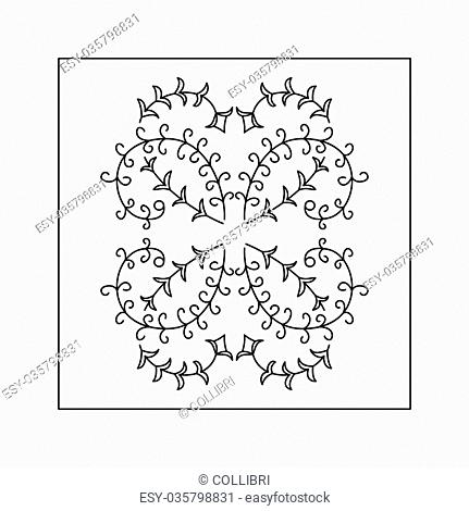 Abstract floral pattern. Doodle style. Decorative element