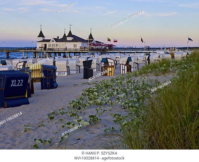 Pier in Ahlbeck, Usedom, Mecklenburg Western Pomerania, Germany