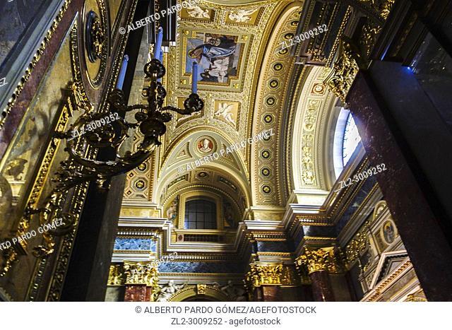 Interior view, St. Stephen's Basilica, Budapest, Hungary