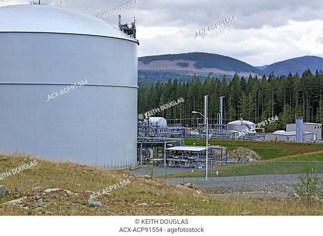 Fortis BC's Mt. Hayes LNG storage facility, near Ladysmith, Vancouver Island, British Columbia. Holds 1.5 billion cubic feet of liquified natural gas