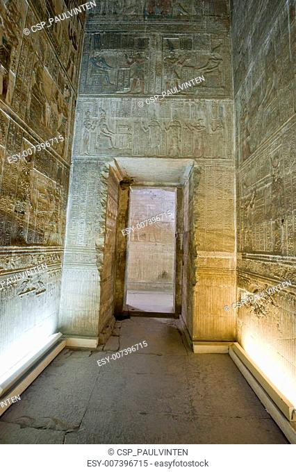 Doorway inside an ancient egyptian temple