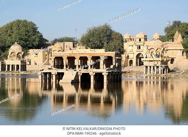 gadi sagar lake Jaisalmer Rajasthan India Asia