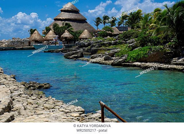 Snorkeling area, Xcaret, Eco-archeological park, Playa del Carmen, Quintana Roo state, Mayan Riviera, Yucatan Peninsula, Mexico