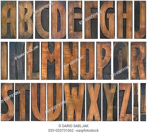 Wooden Letters Cutout