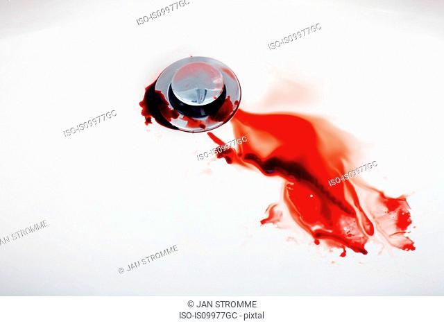 Blood in sink