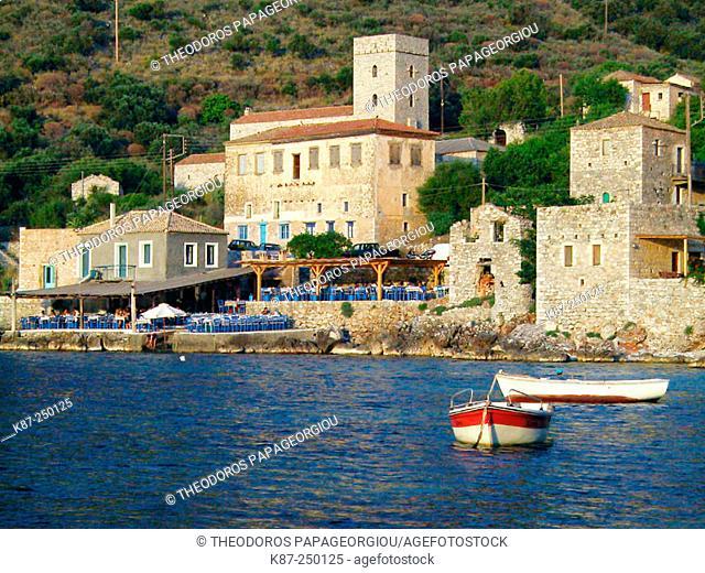 Limeni village at Mani peninsula. Laconia, Peloponnese. Greece