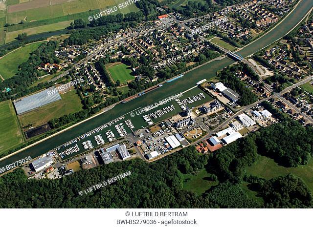 yacht harbor Marina Ruenthe at chanel Weser Datteln Kanal, Germany, North Rhine-Westphalia, Ruhr Area, Bergkamen