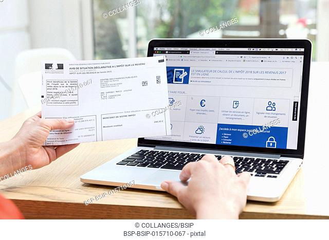 French online tax return for real estate revenu tax