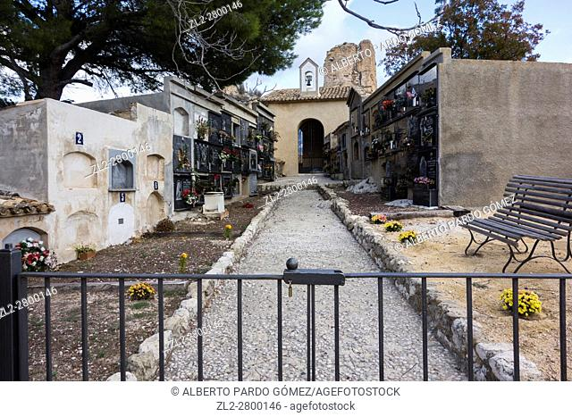 The Cemetary at Guadalest medival village, Costa Blanca, Spain, europe