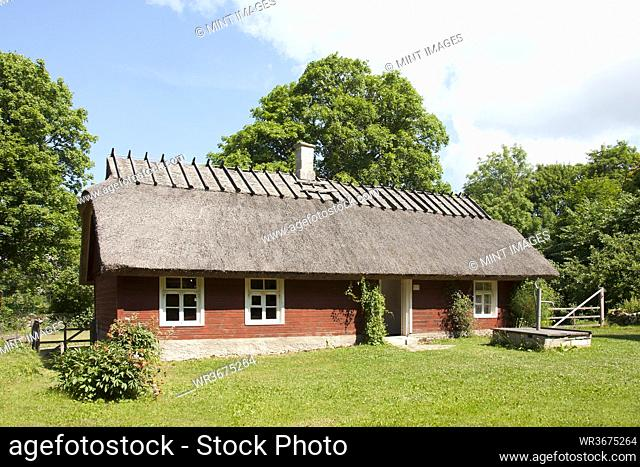 A restored rural house, in a museum of rural life