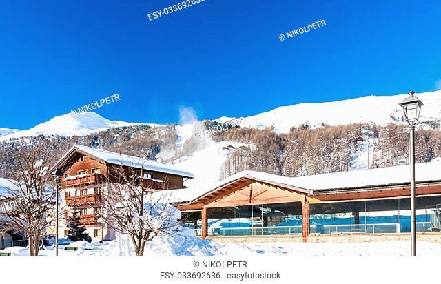 Ski resort Livigno. Italy