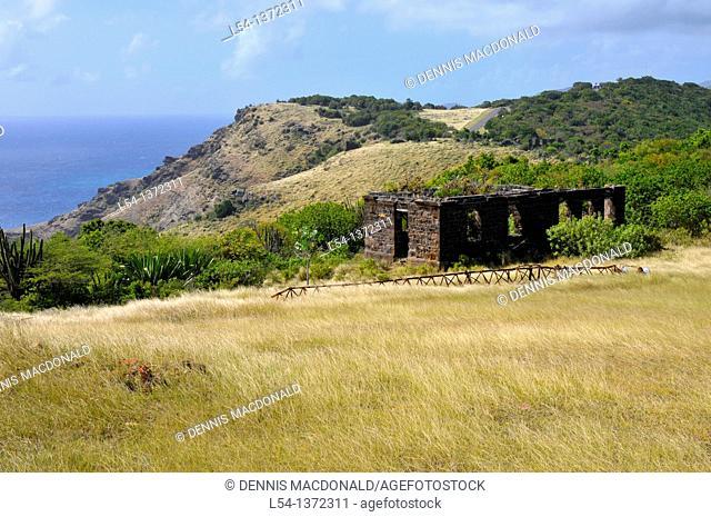 Office Quarters Ruins St  John's Antigua Caribbean Cruise NCL
