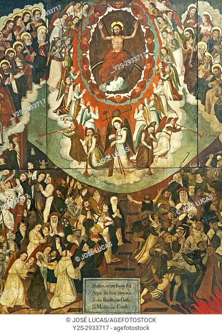 """Provincial museum, """"""""The Final Judgement"""""""" (16th century), Oil painting on wood, Lugo, Region of Galicia, Spain, Europe"""