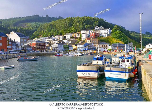 Port of O Barqueiro, O Barqueiro, Fishing Village, Mañón, A Coruña, Galicia, Spain, Europe