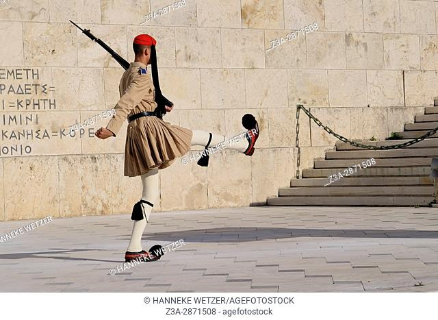 At the head of the Syntagma Square is the Greek Parliament Building with the Tomb of the Unknown Soldier in front of it. The parliament building was originally...
