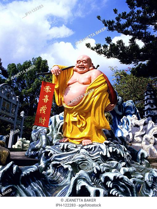 Buddha statue at Haw Par Villa formerly the Tiger Balm Gardens in Singapore