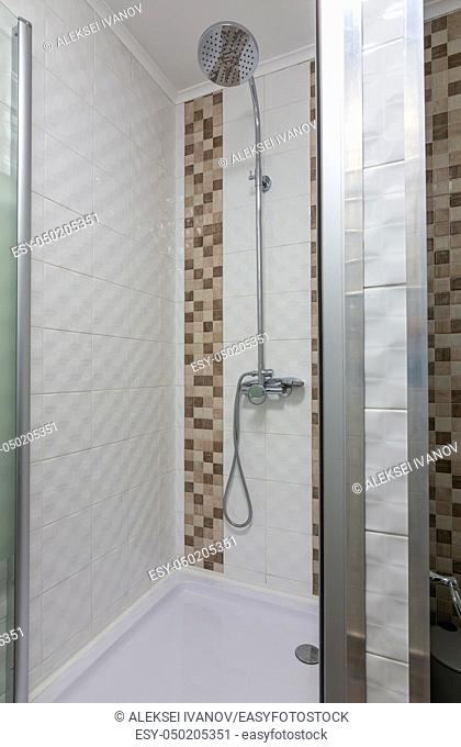 Shower in the hotel room