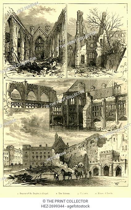 'Ruins of the Houses of Parliament', (1881). Creator: Unknown