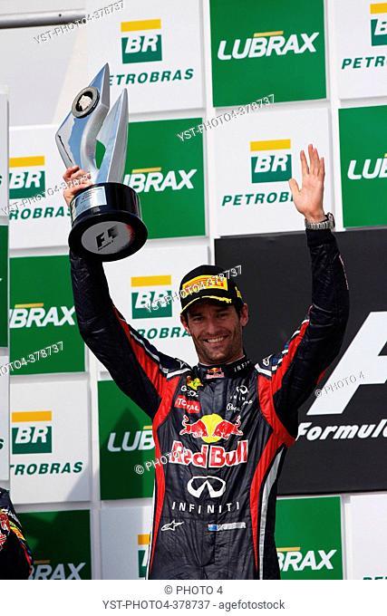 27.11.2011- Race, Mark Webber AUS, Red Bull Racing, RB7 race winner