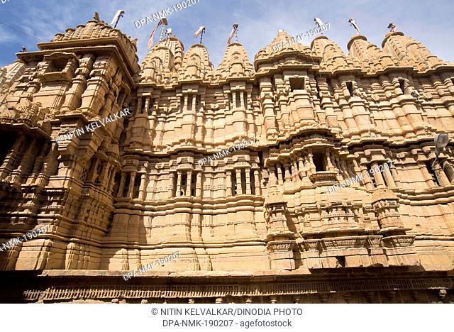 jain temple Sonar fort Jaisalmer Rajasthan India Asia