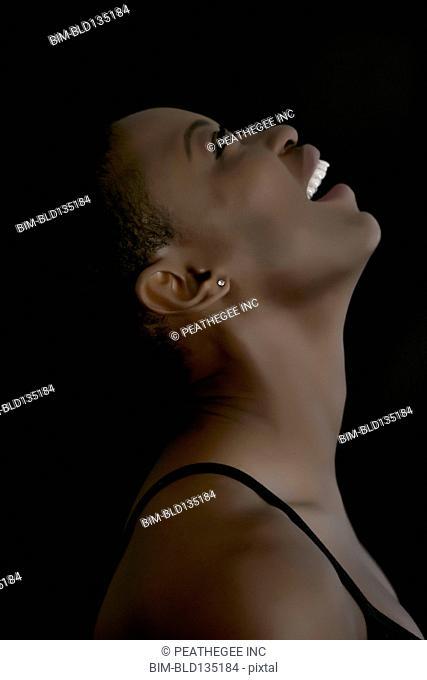 Black woman smiling