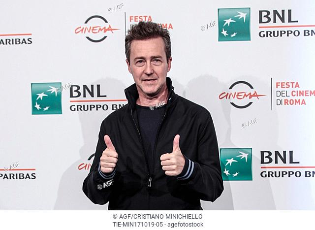 Edward Norton during 'Motherless Brooklyn' film premiere, Rome Film Fest, Rome 17 Oct 2019