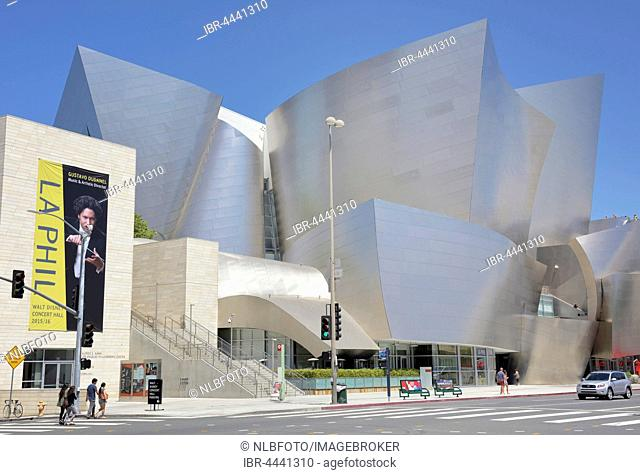 LA Phil, Los Angeles Philharmonic, Walt Disney Concert Hall, architect Frank Gehry, Downtown, Los Angeles, California, USA