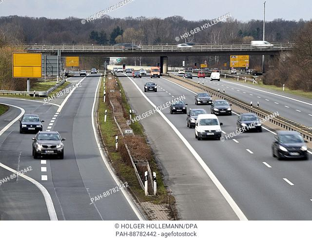 A stretch of motorway outside Hanover, Germany, 06 March 2017. The state of Lower Saxony plans on using stretches of motorways in the area to test autonomous