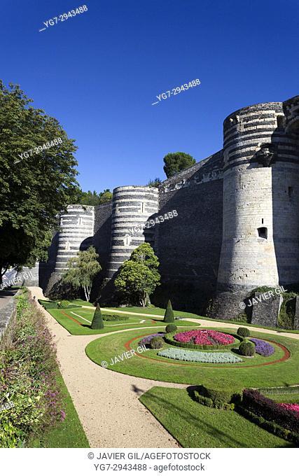 Castle of Angers, Maine-et-Loire, France